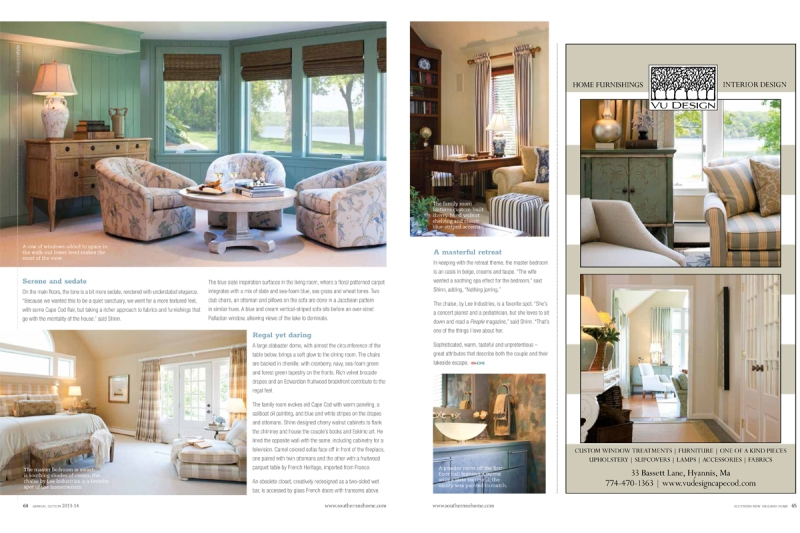 Vu Design was featured in Southern New England Home magazine's 2013 issue.